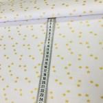 Ткань хлопок ЛЮКС золотые (глиттер) звезды на белом фоне фото