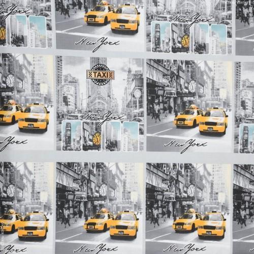 Ткань хлопок Такси в Нью Йорке, 40*50 см