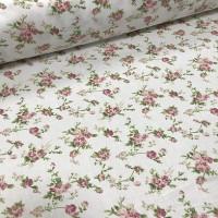 Ткань хлопок (сатин) Цветы мелкие на белом фоне, 40*50 см