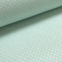 Хлопковая ткань Горошек 4 мм на светло-мятном фоне, 40*50 см
