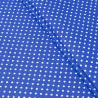 Ткань хлопок Горох на синем фоне, 40*50 см