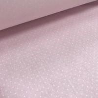 Ткань хлопок Мелкий горох 2 мм на розовом фоне, 40*50 см