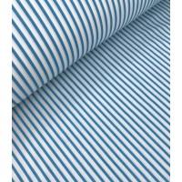 Ткань хлопок Полоска бирюзовая 5 мм, 40*50 см