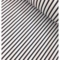 Ткань хлопок Полоска черная, 40*50 см
