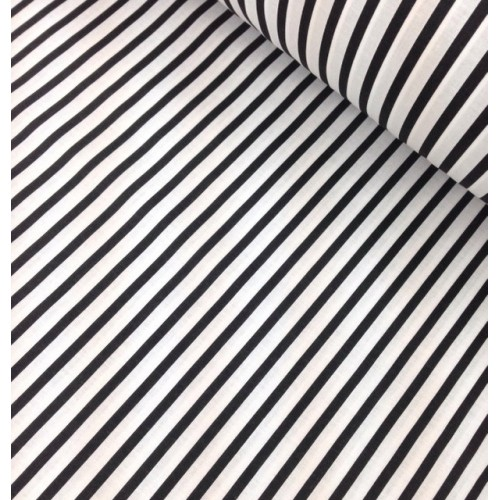 Ткань хлопок Полоска черная фото