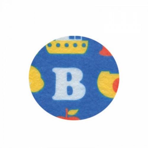 Фетр листовой Буквы на синем фоне ROSA TALENT фото