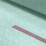 Ткань хлопок Ромбы на мятном фоне фото