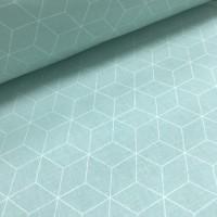 Ткань хлопок Ромбы на мятном фоне, 40*50 см