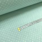 Хлопковая ткань Горошек 4 мм на светло-мятном фоне фото
