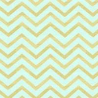 Ткань хлопок с глиттером Мятно-золотой шеврон Michael Miller, 27*45 см