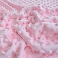Плюш Minky Светло-розовый, 40*50 см