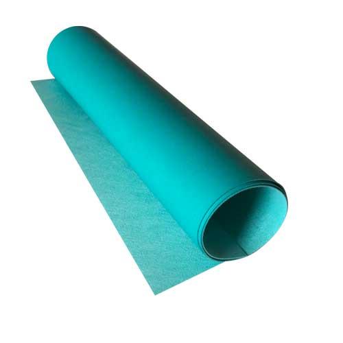 Отрез кожзама bright blue, размер 70 см х 25 см