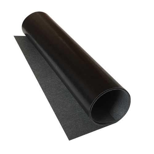 Отрез кожзама glossy black, размер 70 см х 25 см