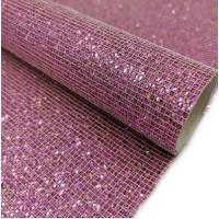 Экокожа квадратики Розовая, 20х30 см