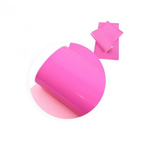 Экокожа лаковая Ярко-розовая фото