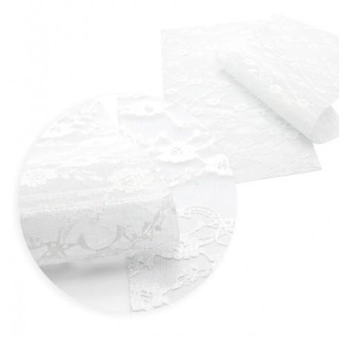 Экокожа Кружево Белое фото