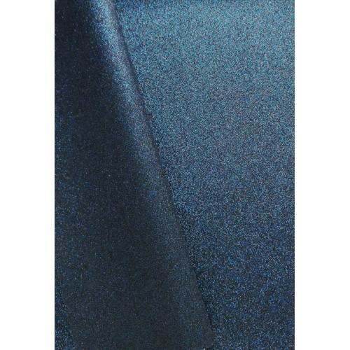 Экокожа с мелким глиттером Темно-синяя фото