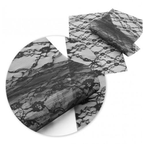 Экокожа Кружево черное фото