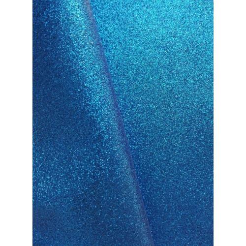Экокожа с мелким глиттером Синяя фото