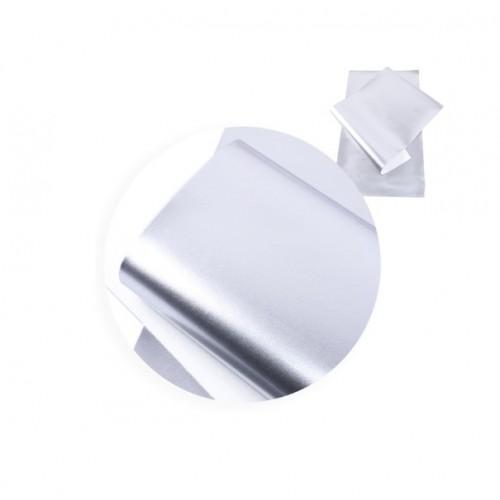 Экокожа лаковая Серебро фото