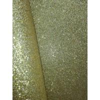 Экокожа с мелким глиттером Золото, 20х30 см