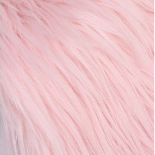 Мех длинный для игрушек розовый, 25см х 35см