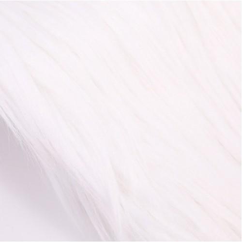 Мех длинный для игрушек белый, 25см х 35см