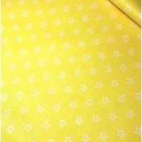 Ткань хлопок Контур звезды на желтом фоне, 40*50 см