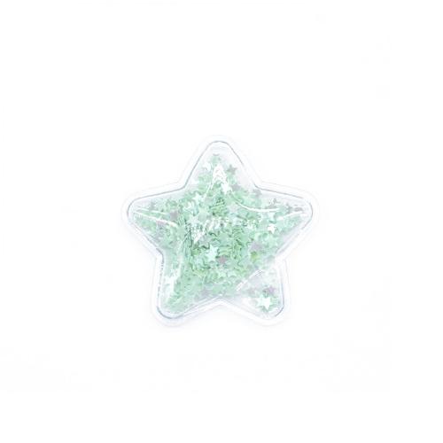 Патч силиконовый Звезда со звездами Мятными, фото