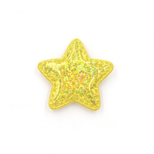 Патч лаковый звезда Желтая shine, фото