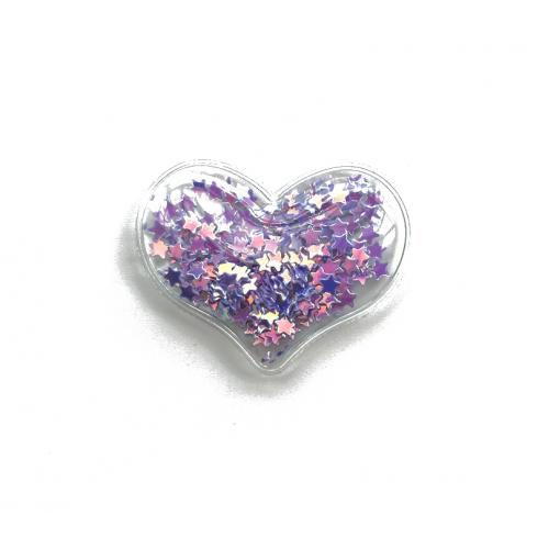 Патч силиконовый Сердце со звездами Фиолетовое, фото