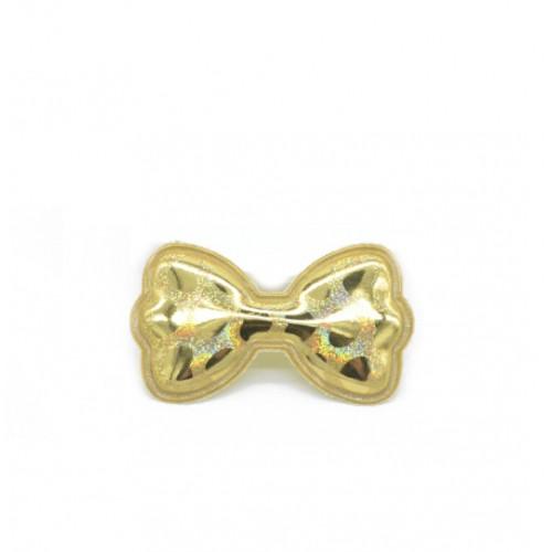 Патч лаковый Бант золото фото
