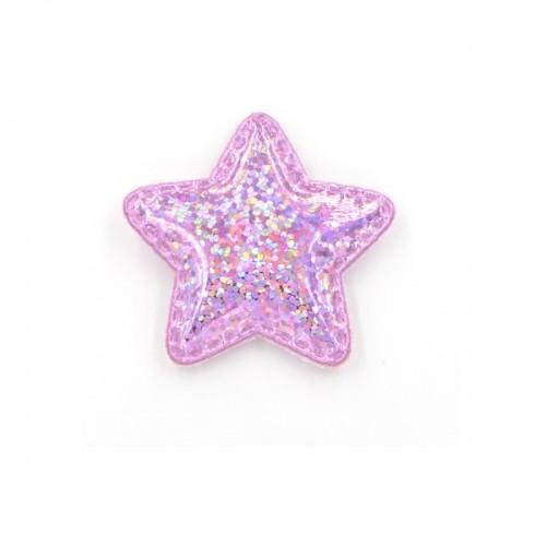 Патч лаковый звезда Розовая shine, фото