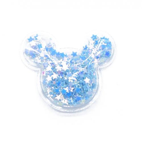 Патч силиконовый Микки Маус со звездами Синий, фото