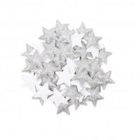 Патч Звезда серебро, 3х3 см