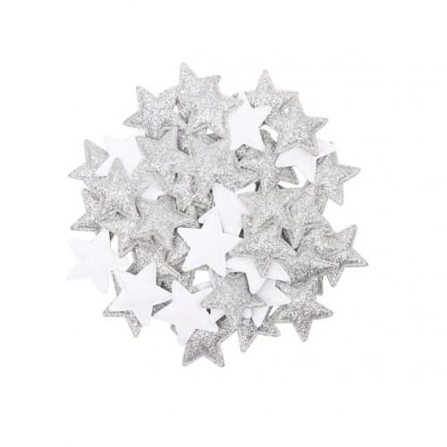 Патч Звезда серебро фото