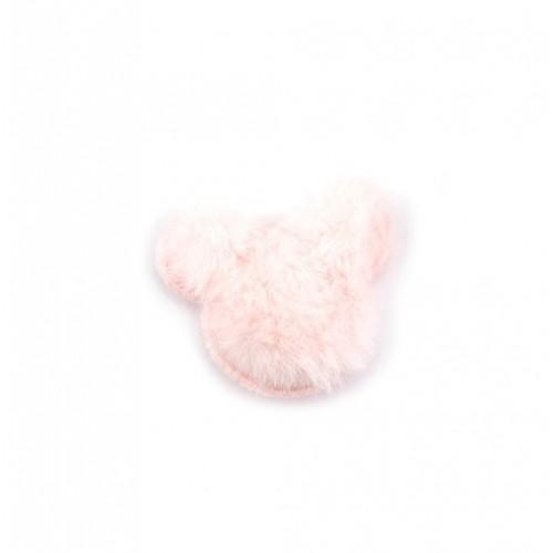 Патч меховой Микки Маус бежевый, фото