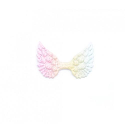 Патч Крылья с глиттером градиент, фото