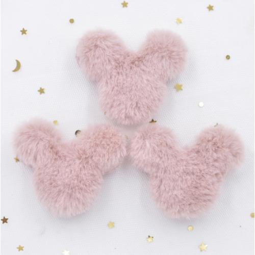 Патч меховой Микки Маус розовый, фото