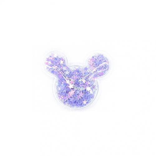 Патч силиконовый Микки Маус со звездами Фиолетовый, фото