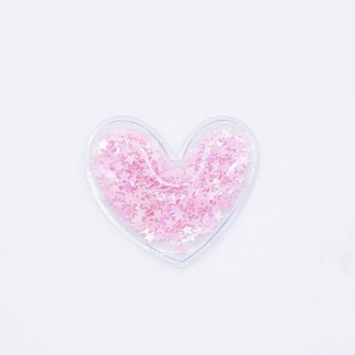 Патч силиконовый Сердечко розовое, 50х50 мм фото