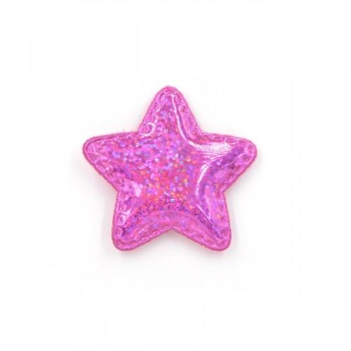 Патч лаковый звезда Малиновая shine, фото