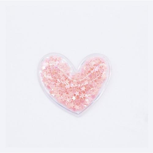 Патч силиконовый Сердечко персиковое, 50х50 мм фото