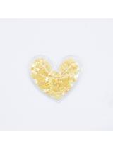 Патч силиконовый Сердечко желтое, 50х50 мм