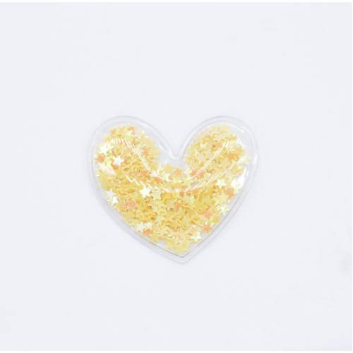 Патч силиконовый Сердечко желтое, 50х50 мм фото