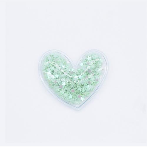 Патч силиконовый Сердечко мятное, 50х50 мм фото