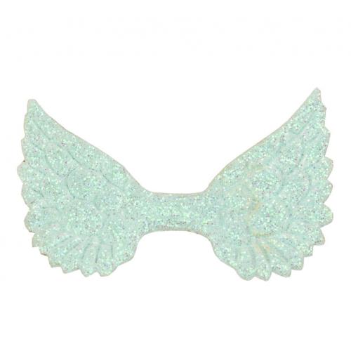Патч Крылья с глиттером светло-голубые, фото