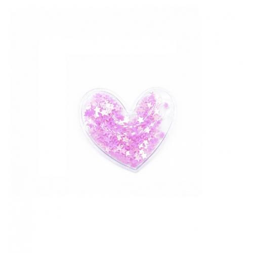 Патч сердце серебро, 3х3 см