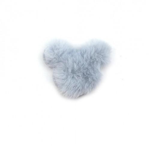 Патч меховой Микки Маус серый, фото