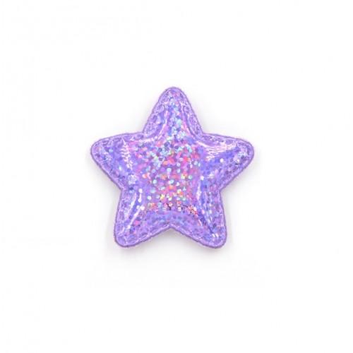Патч лаковый звезда Фиолетовая shine, фото